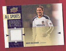DAVID BECKHAM LA GALAXY GAME WORN MEMORABILIA SWATCH RELIC CARD SOCCER STAR MLS