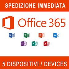 Office 365 2019 Pro Plus Lifetime 5 Dispositivi Invio istantaneo 5tb cloud