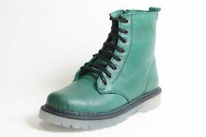 Gemini Boots Schuhe grün Leder komfort Wechselfußbett Damen