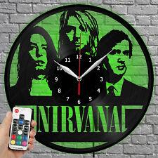 LED Clock Nirvana Vinyl Record Wall Clock Led Light Wall Clock 1249