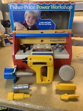 Vintage Fisher Price Power Workshop With Accessories & Working Drill 1986