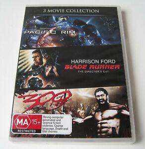 PACIFIC RIM / BLADERUNNER / 300 - DVD   SEALED