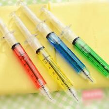 4xSyringe Injection Shape Ballpen Doctor Nurse Liquid Pen Ballpoint Random UK