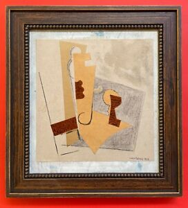 HENRI LAURENS - COLLAGE and PENCIL on ORIGINAL WOOD FROM THE 10s - FRAMED!