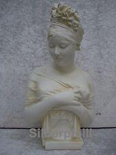Büste Madame Juliette Recamier Lecomte Kopf Frau Deko Stuckgips Crem   2001