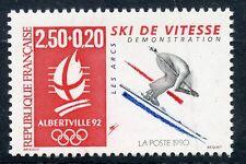 STAMP / TIMBRE FRANCE N° 2739 ** JEUX OLYMPIQUE ALBERVILLE 1992 SKI DE VITESSE