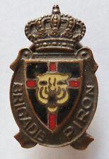 Insigne boutonnière WWII 1945 BADGE BRIGADE PIRON Belgique Résistance Belge