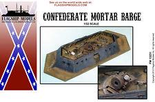 FLAGSHIP MODELS Confederate Mortar Barge (14.5 inches long)