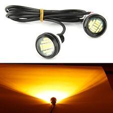 2X DC 12V 15W Eagle Eye LED Running DRL Backup Light Car Yellow Auto Lamp Bulbs