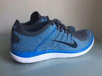 Nike Free 4.0 Flyknit Blue Gray Mens Running Shoe Size 10 631053 014 Womens 11.5