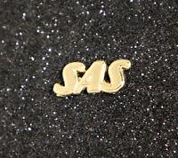 Pin SAS Scandinavian Austrian Airlines logo Golden size: 20mm wide / 0.8 inches