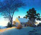 Od White Farm House in Winter by Maxfield Parrish