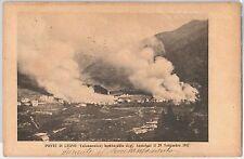 CARTOLINA d'Epoca - BRESCIA provincia:  Ponte di Legno  BOMBARDAMENTO 1917 !!