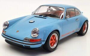 KK Scale 1/18 Scale Diecast 180441 - 2014 Porsche 911 By Singer Coupe - Blue