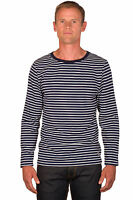 Ugholin Camiseta Marinero para Hombre Cuello Redondo 100% Algodón Manga Larga