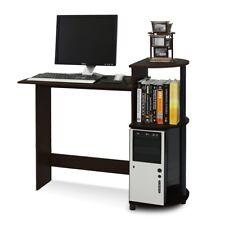 Furinno 11181EX/BK Compact Computer Desk, Espresso/Black, New