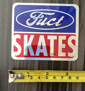 Fuct Skates skateboard sticker 1980's , Ford logo spoof