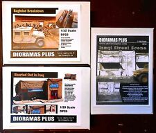 Dioramas Plus 3 Kit Set Building Ruins Iraqi Middle East 1/35 Diorama Bases
