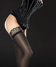 Fiore Contessa Bas Noir Autofixant Femme 40 deniers Blanc 3