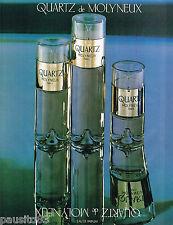 PUBLICITE ADVERTISING 065  1980  MOLYNEUX  parfum QUARTZ