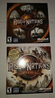 LOT OF 2: Rise of Nations & Rise of Nations Thrones & PatriotsPC Games W/Key