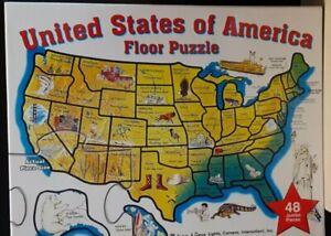 Melissa & Doug USA Map Floor Puzzle 48pcs