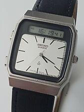 Seiko H357-500A Quartz Alarm Chrono Ana & Digi Vintage 1981 James Bond Style