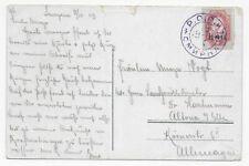 Russische Post in der Levante 1909 - Ansichtskarte Smyrna nach Altona