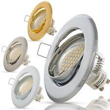 Einbaustrahler GU10 LED 3W 230V Spot Einbaurahmen Einbauspot Deckenstrahler Set