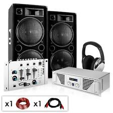 EQUIPO SONIDO PROFESIONAL DJ PA PACK ALTAVOCES AMPLIFICADOR MESA MEZCLAS 2000W