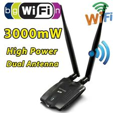 3000MW High Power USB WIFI Wireless Adapter Network Card 150Mbps 802.11 Antenna