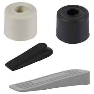 Rubber Door Stop Wedge Black White Grey Hold Open Wedge Buffer Stopper Jammer