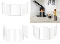BabyDan Hearth Fireplace Gate/ Configure (Extra Large, White) UK FREE POST NEW