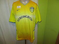 "Leeds united original nike saliente camiseta 2002/03 ""Strongbow"" talla XL"