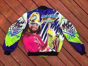 Rare Vintage ORIGINAL 90s WWF Macho Man Randy Savage Chalkline Fanimation Jacket