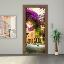 3D Garden House Wallpaper Mural PVC Door Wall Paper Art Home DIY 30.3x78.7""
