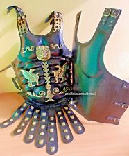 Greek Black Leather Medieval Muscle Armor Collectible Wearable Heavy Chestplate