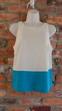 Topshop Crop Top in Turquoise Blue and Ivory NWT size 4
