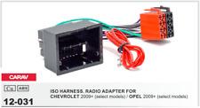 CARAV 12-031 Conector ISO OEM Radio Adaptador CHEVROLET 2009+, OPEL 2009+