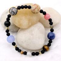 MINIVERSE BRACELET Planets Solar System Stone Gift Jewelry Theme Stretch Bangle