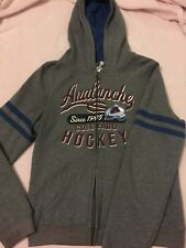 NHL - Colorado Avalanche Hockey - Zip Up Hoodie - Size M - Grey