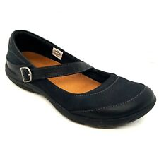 MERRELL Dassie | US 10 | Black Pebbled Leather MARY JANE Flats w/ Buckle Straps