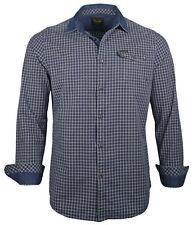 PME Legend Herren Hemd PSI181216 langarm Kent Kragen Freizeithemd Shirt kariert