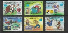 HICK GIRL- MINT MALDIVES STAMPS    DISNEY  MICKEY'S FOLK HEROES      T211