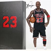NBA Real Masterpiece Michael Jordan 23 Black Jersey 1/6 Action Figure New In Box
