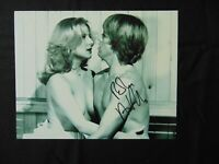 """Let's Get Laid"" Robin Askwith Hand Signed 10X8 B&W Photo Autograph World COA"