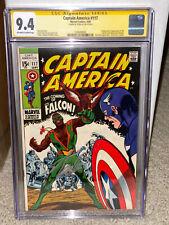 Captain America #117 CGC 9.4 1969 1st Falcon! Stan Lee Signature! Signed! L10 cm