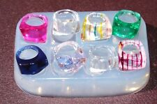 Multi-Clear-silicone Ring Molds 8 ps ,mix rings,mix size.Free USA Shipping(312)L