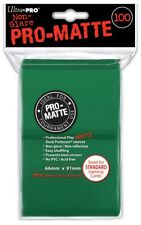 Card Supplies Non-Glare Pro-Matte Green Standard Card Sleeves [100 Sleeves]