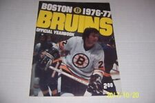 1976 77 BOSTON BRUINS Official Yearbook BRAD PARK Terry O'REILLY Gary CHEEVERS